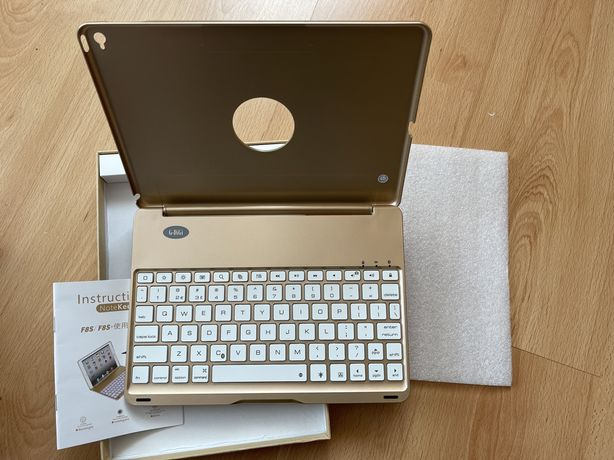 Клавиатура для iPadAir2 iEGrow F8S+-Gold Slim Bluetooth Clamshell Keyb