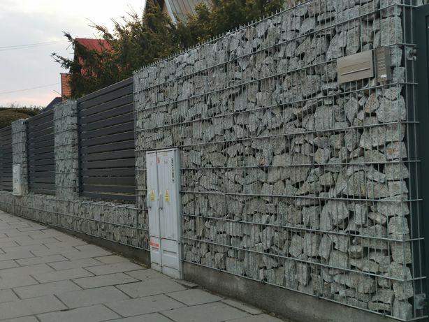 gabiony ogrodzenia bramy panelowe kamień gabionowe