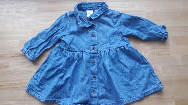 Sukienka dżinsowa 56cm H&M