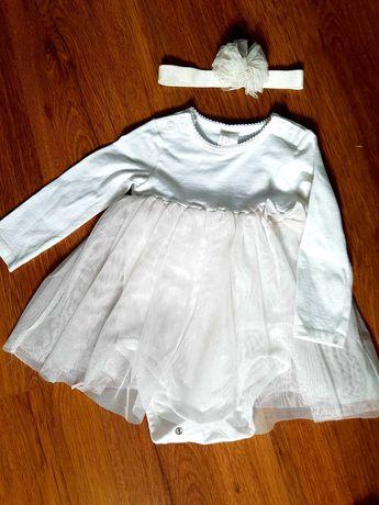 Sukienka h&m śliczna rozm.74