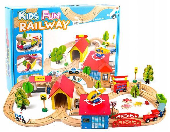Детская деревянная дорога, железная дорога совместима с Ікеа