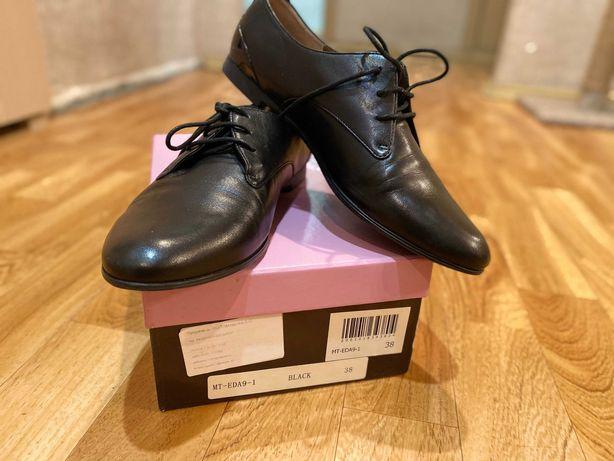 Туфли женские, лоферы,оксфорды Carlo Pazolini из натуральной кожи 38 р