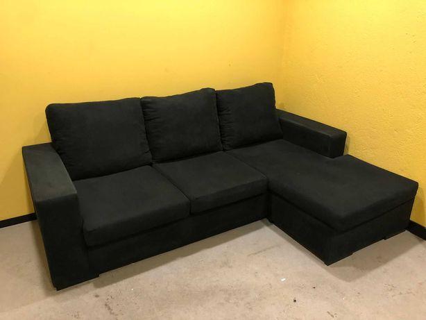 Lindo sofá com chaise long movel/COM POSSIBILIDADE DE ENTREGA