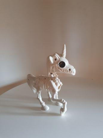 Esqueleto unicórnio- objeto de decoração Halloween