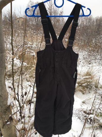 Зимний чёрный полукомбинезон комбинезон штаны etirel