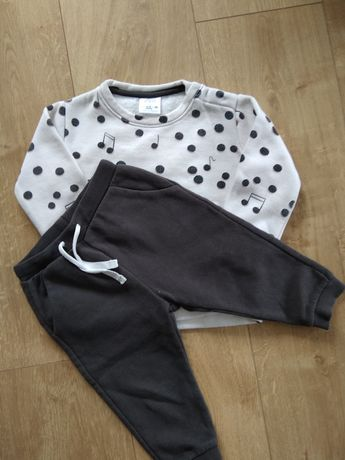 Komplet Zara bluza spodnie 86