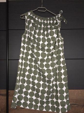 Cudna sukienka na lato w kolorze ciemnej Zieleni