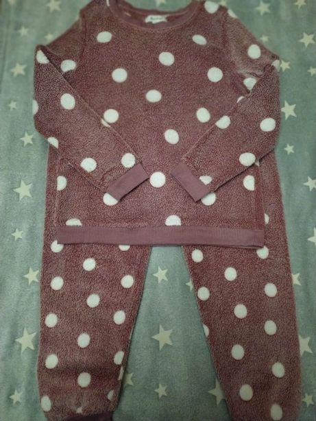 Теплая махровая пижама, костюм для дома  пудра Love to lounge р.46 .