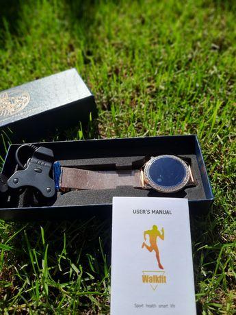 NOVO EM CAIXA Relógio smartwatch dourado com cristais - Mulher