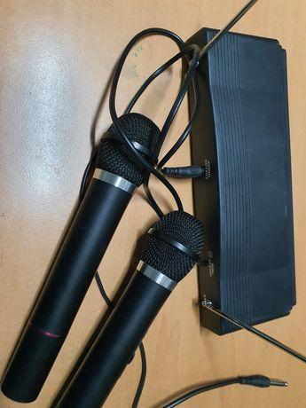 Bezprzewodowy zestaw karaoke 2 mikrofony