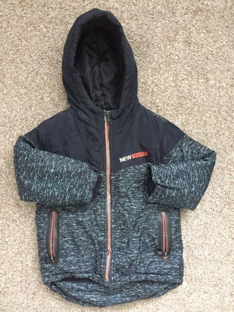 Куртка на мальчика на флисе. Упеленная осень. 3-4 года
