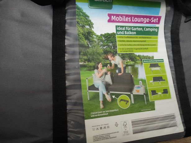 Meble ogrodowe- przenośne, 2 krzesła+stół+torba