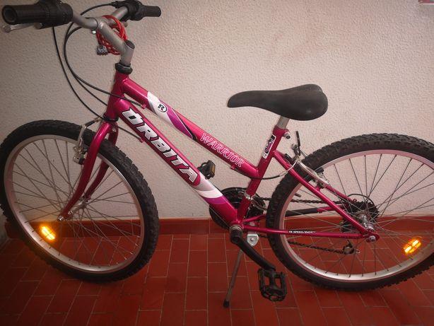 Bicicleta Órbita Warrior roda 24 BTT com 18 mudanças Shimano