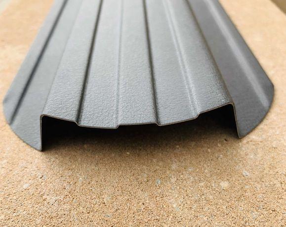 Sztachety metalowe dwustronne powłoka jednolita - na wymiar