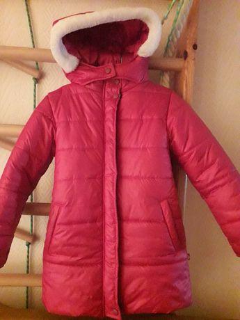 пальто зимнее на рост 134