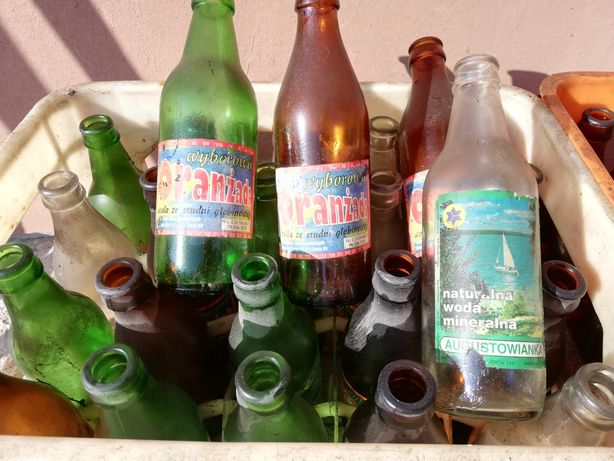 Butelki po oranżadzie stare 2 skrzynki