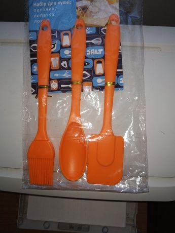 Кухонный набор силиконовый лопатка кисточка ложка 80грн