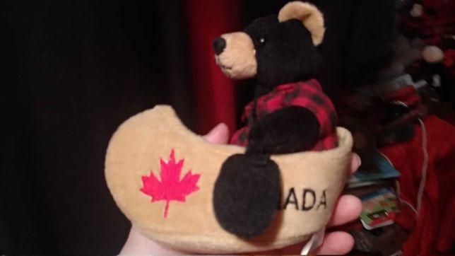 мягкая игрушка медведь мишка каноя Канада Canada флаг кленовый лист