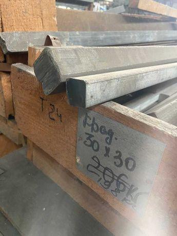 Квадрат титановый ВТ1-0 30х30 40х40 45х45  прутки листы трубы титан