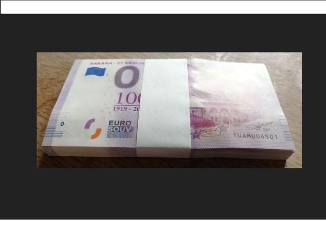 0 Euro -Ankara - 27 aralik 1919 Turcja Paczka bankowa 100szt Pakiet