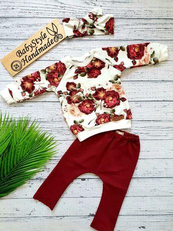 Dres bluza bluzka spodnie leginsy HANDMADE dla dziecka Babystyle 471