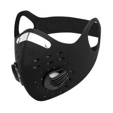 SPORTOWA maska antysmogowa NEOPREN + FILTR PM2.5, PM10