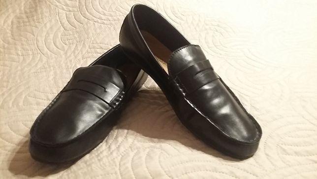 Mokasyny męskie, buty na jesień / wiosnę rozmiar 42 czarne NOWE