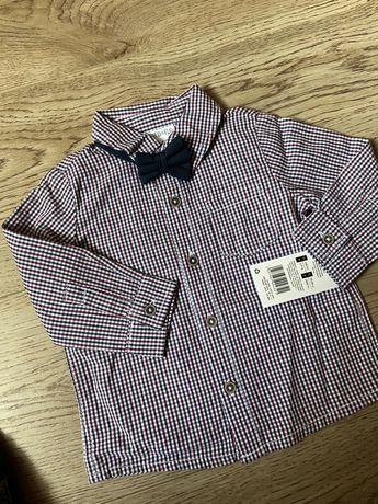 Рубашка на мальчика 3-6м