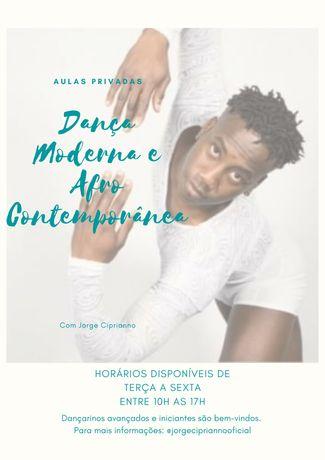 Aulas Privadas de Dança Moderna e Afro Contemporânea