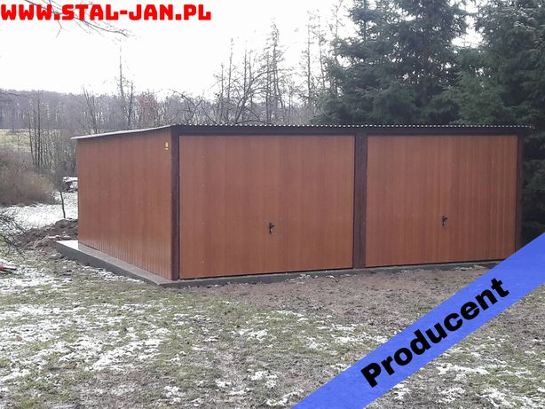 Garaż blaszany/blaszak 6x5 złoty dąb, dach jednospadowy, małopolska