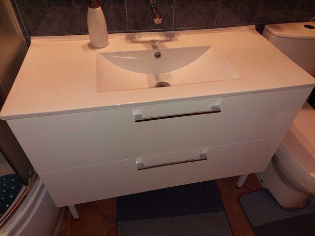 Umywalka 101cm z szafką z 2 szufladami