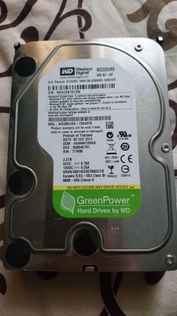 "Серверный HDD WD 2TB 3.5"" SATA II WD20EURS"