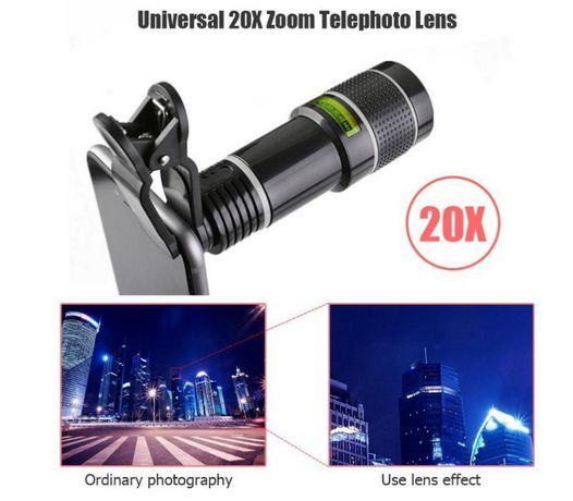 Objetiva para Smartphone zoom 20x