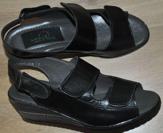 NOWE sandały R.36 Sana Vital Comfort,skórzane sandałki jak Ecco-koturn