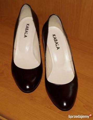 Eleganckie skórzane buty czółenka KABAŁA r. 37,5
