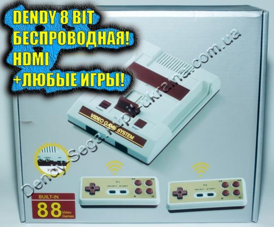 Игровая приставка Денди Джуниор (HDMI+Беспр.дж). Dendy Djunior