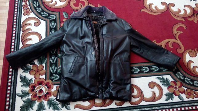 Шкіряна куртка зимова
