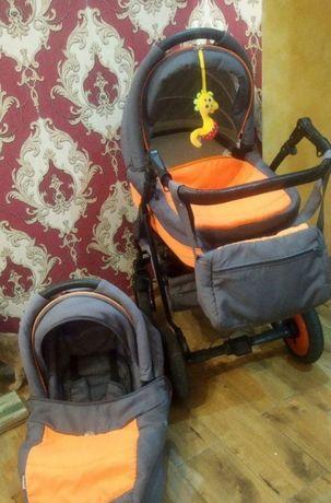 Продаем нашу коляску Adamex Enduro. Большая, очень вместительная люльк