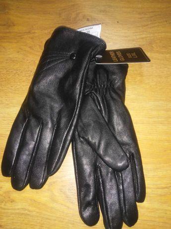 Skorzane rekawiczki l/xl czarne