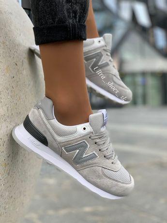 New balance женские кроссовки серые