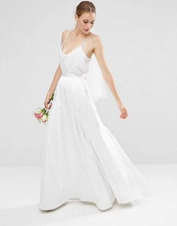 ASOS DESIGN Spódnica biała S/M, spódnica ślubna, do sesji