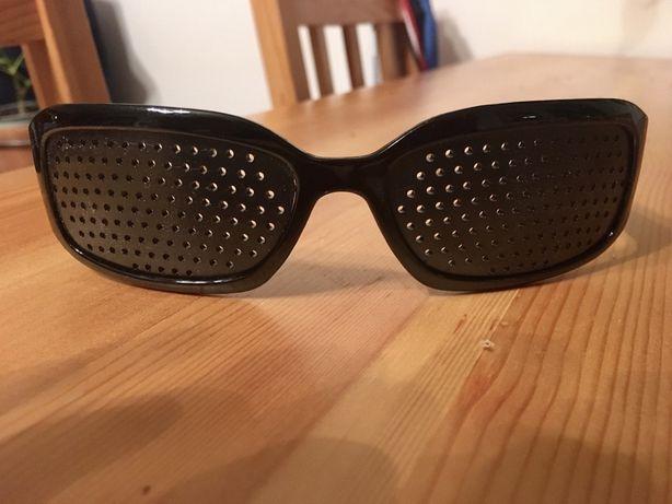 Okulary ajuwerdyjskie do ćwiczenia wzroku, okulary z dziurkami