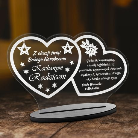 Świąteczna statuetka kartka życzenia dla RODZINY