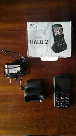 myPhone halo 2 ładowarka baza pudełko czarny telefon dla seniora