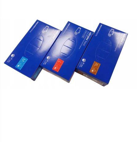 Rękawiczki nitrylowe M, L. Fartuchy chirurgiczne, maski