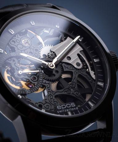 Szwajcarski zegarek Epos Sophistiquee 3424 ETA Unitas skeleton nowy