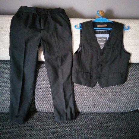 Eleganckie spodnie i kamizelka 122 cool Club + gratis biała koszula