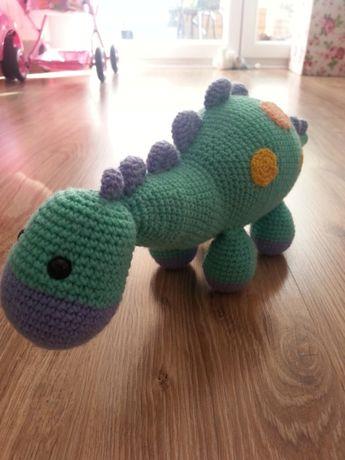 Georg świnka pepa, dinozaur, zabawki, ręcznie szydełkowany duży 40 cm
