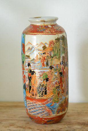 stary Oryginalny złocony WAZON Chińska porcelana 15 cm