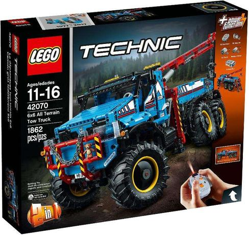 LEGO Technic 42070 6x6 All Terrain Tow Truck - NOVO